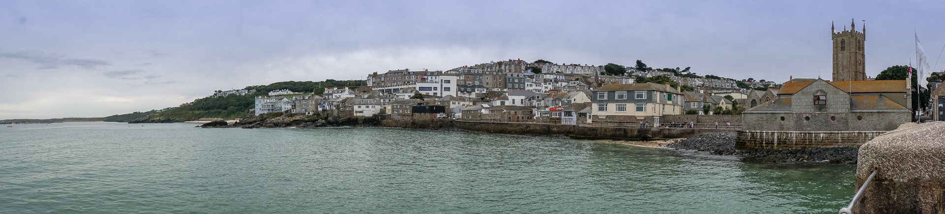Panorama St. Ives mit St. Ia's Church